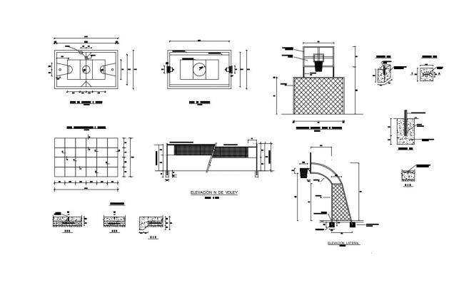Sport Center Plan In AutoCAD File