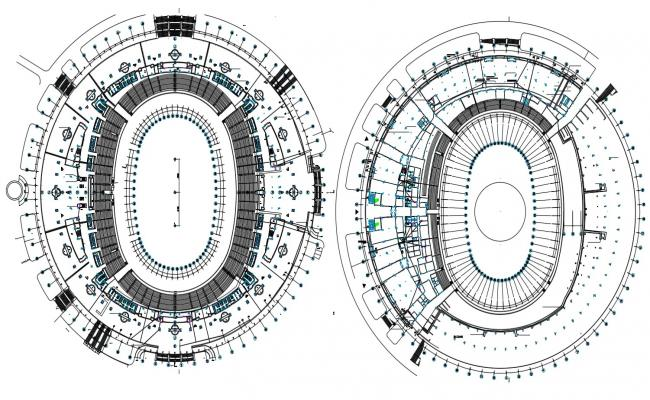 Sports Stadium CAD Drawing