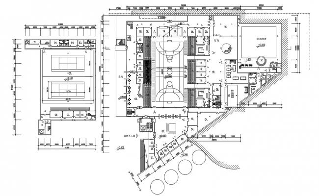 Sports Stadium Project DWG File