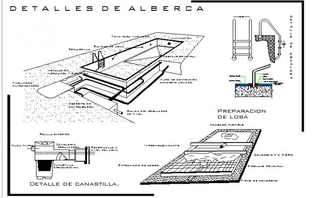 swimming pool section detail pdf