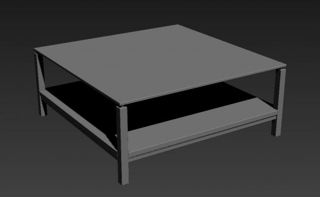 Square Shape Wooden Table Desk 3ds Max File Free Download