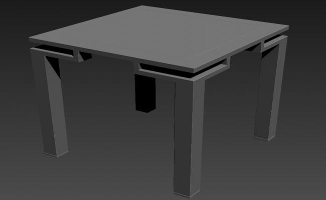 Square Table Design 3ds Max Furniture Block File