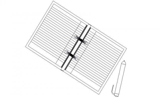 Square window elevation block cad drawing details dwg file