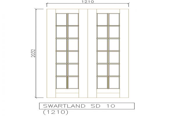 Squire Block design Door Detail in the drawing.