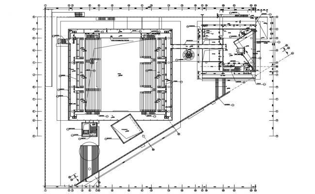 Stadium Plan AutoCAD Drawing