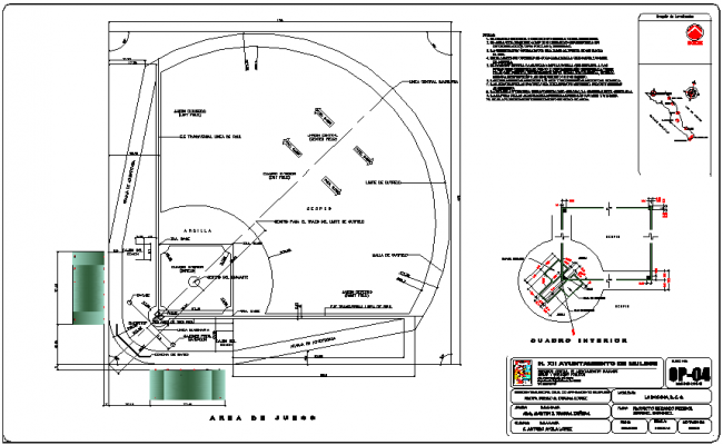 Stadium location plan with detail dwg file