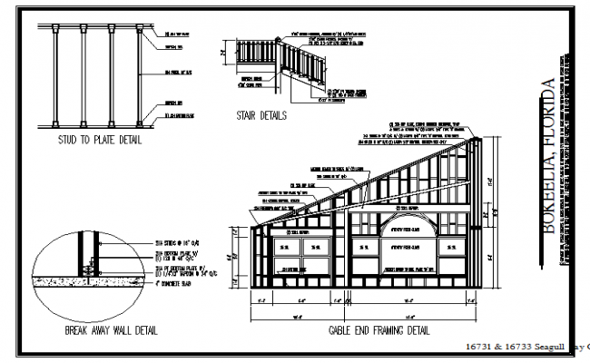 Stair U0026 Structure Detail In Cad File