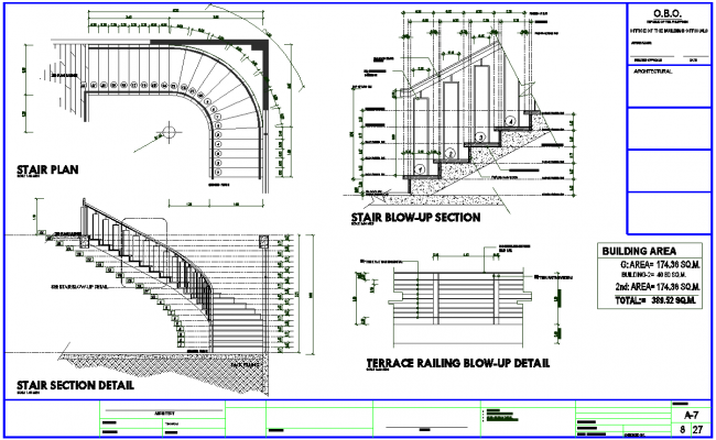 Stair Case Detail dwg file