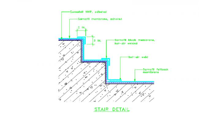 Stair Detail Of Membrane