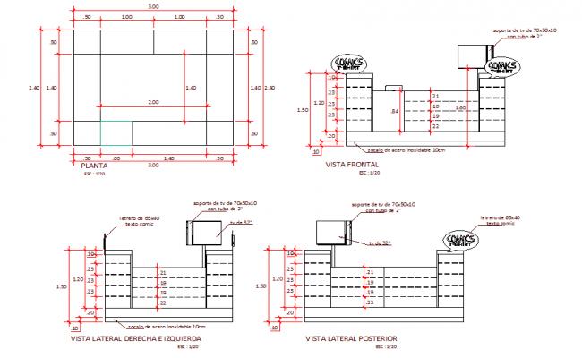Stair Plan & Elevation Design