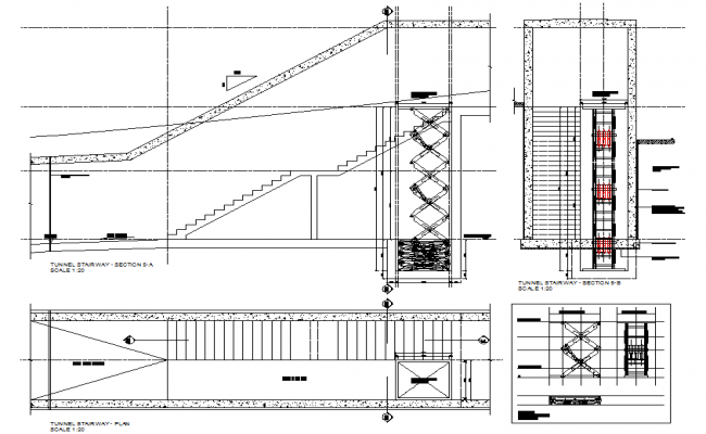 Stair Plan & Elevation Detail