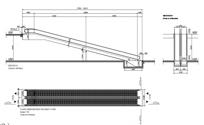 Stair Plan & Elevation & Section detail