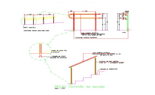 Stair Railing cutting detail.