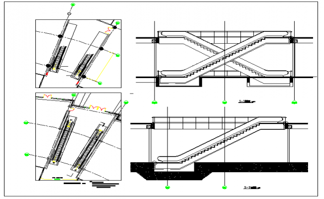 Stair Section & Plan & Elevation Detail
