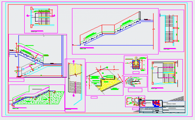 Stair case design drawing