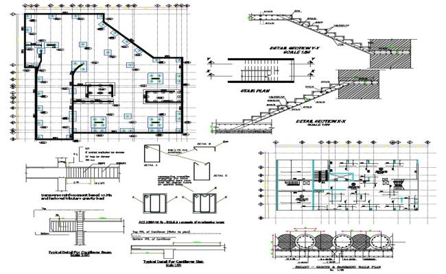 Stair design steel CAD file download