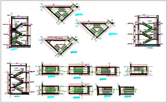 Stair detailing dwg file