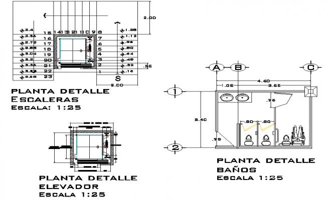 Stair plan dwg file
