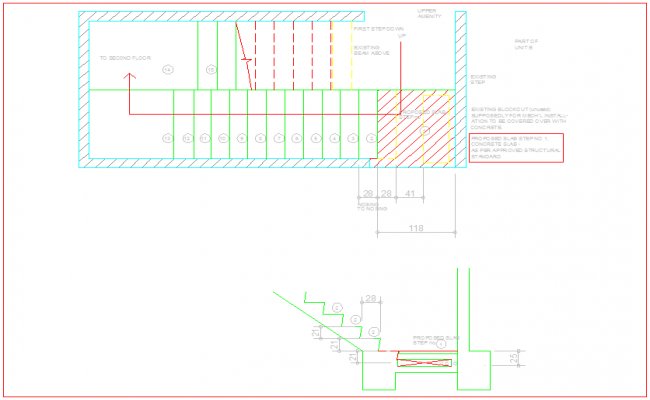 Stair plan of SRF for tower