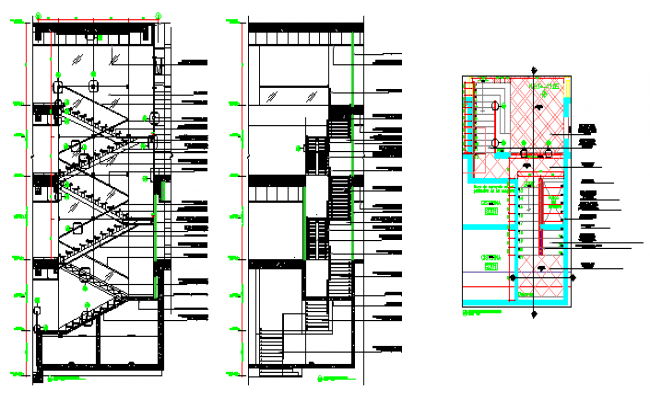 Stair section design drawing