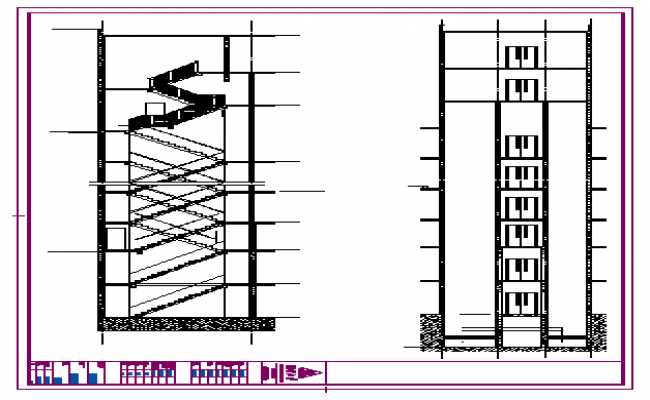 Stair section detail design drawing