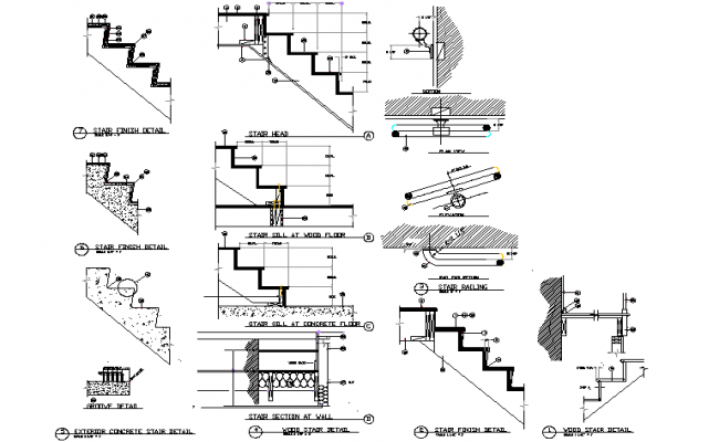 Stair section dwg file