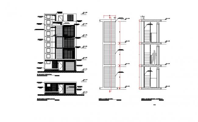 Staircase Design Plan In AutoCAD File