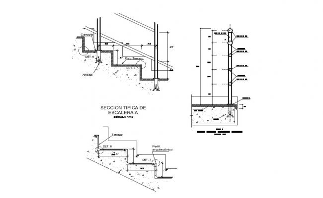 Staircase Details AutoCAD File Free Download