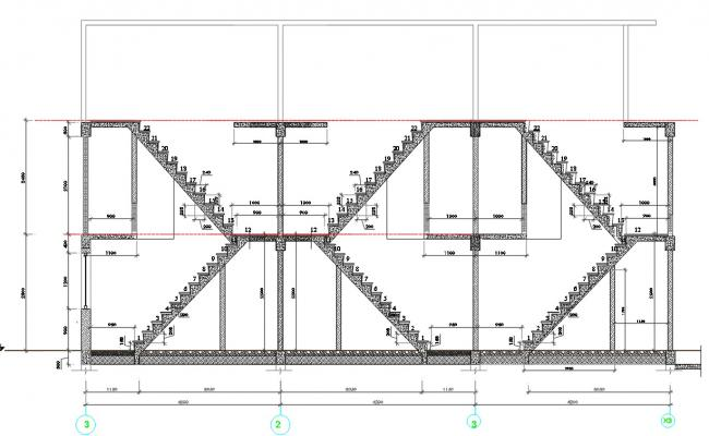 Staircase Section  Plan Autocad file