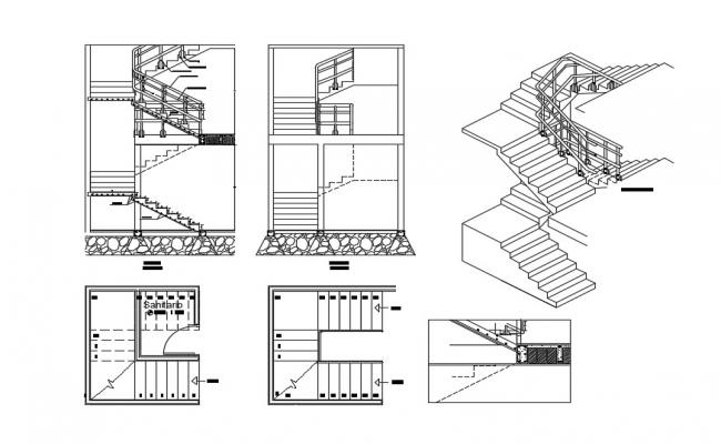 Staircase Section In DWG File
