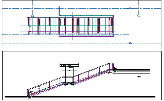Staircase construction details dwg file
