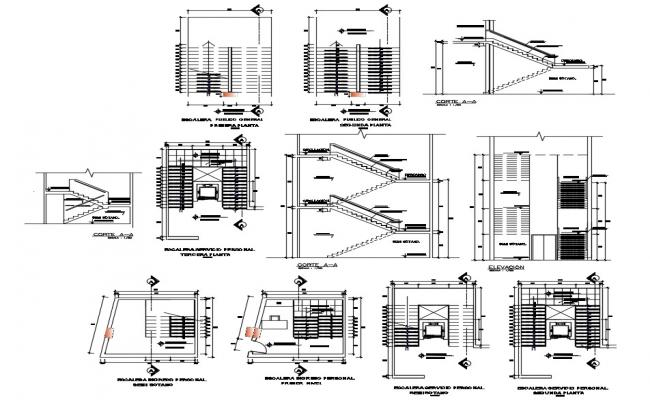 Staircase design with detail dimension