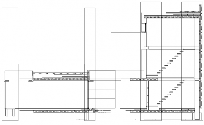 Staircase section detail dwg file