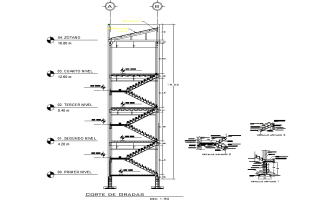 Staircase section structural file