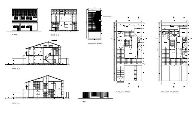 Staircase structure detail CAD construction layout file in dwg format