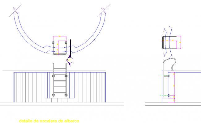 Stairway in tank