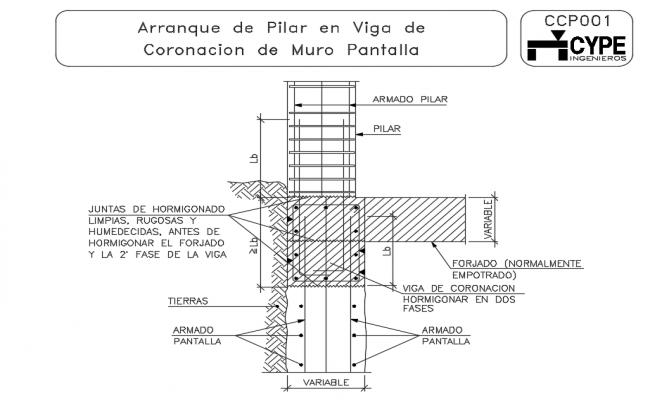 Start up of pilar Dwg file