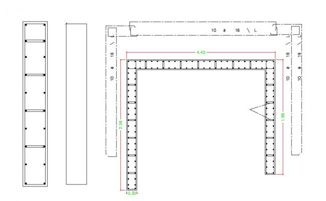 Steel Beam Connection AutoCAD File