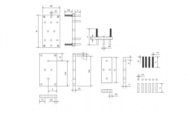 Steel Column Download CAD Drawing