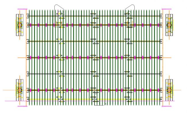 Steel Frame gate Detail in DWG file