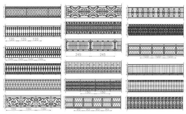 Steel Railing Design CAD File