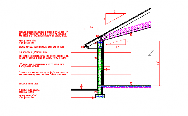 Steel Roof & Frame Section Detail
