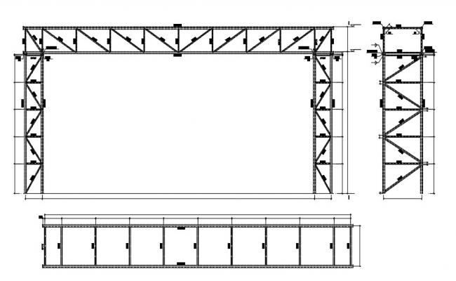 Steel Roof Truss Design CAD Drawing Download