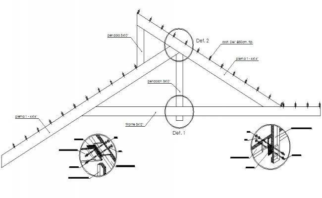 Steel Roof Truss Design CAD Drawing
