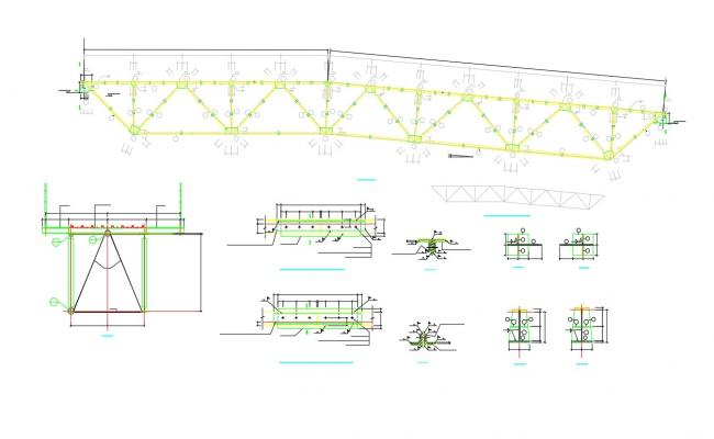 Steel Roof Truss Design Drawings AutoCAD File
