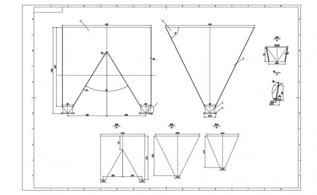 Steel Truss Design AutoCAD file Download