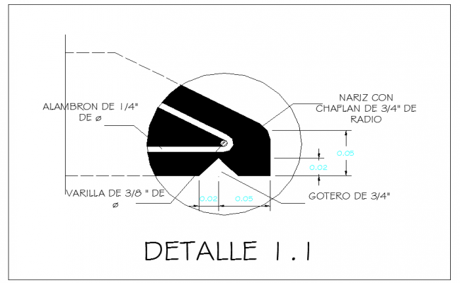 Steel bar Slab detail