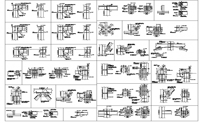 Steel fabrication plan detail dwg file.
