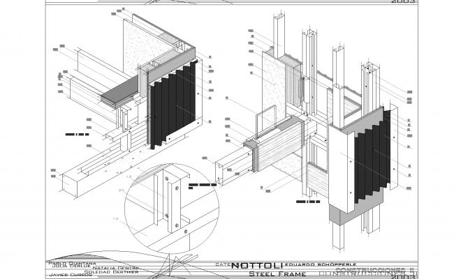 Steel framing detail plan dwg.