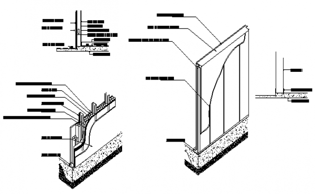 Steel framing details design drawing